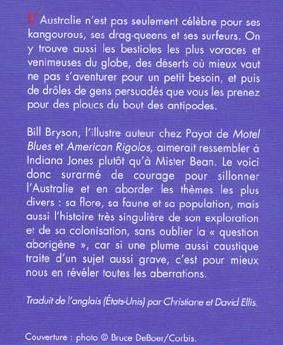 Bill Bryson, chroniques australiennes
