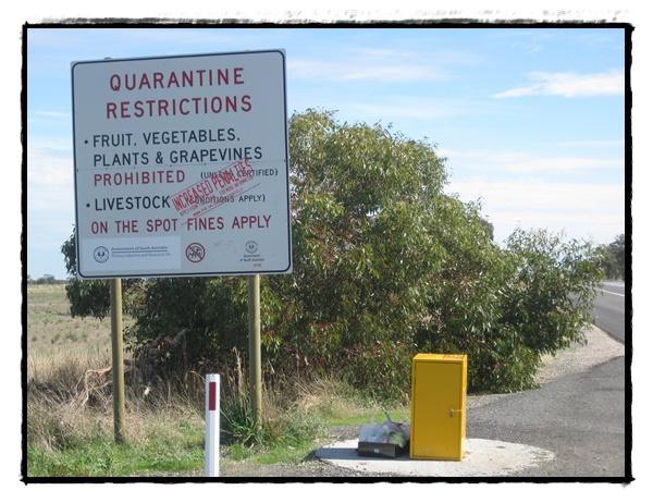 Quarantine restrictions Australie