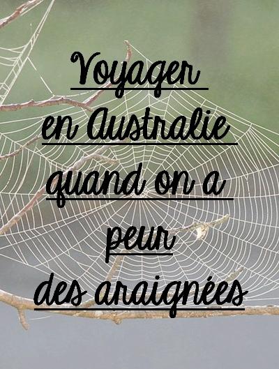 arachnophobe en Australie