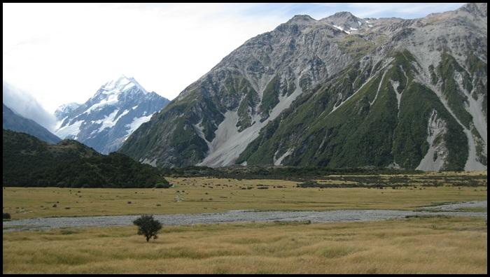 rando au mont cook, Nouvelle-Zélande