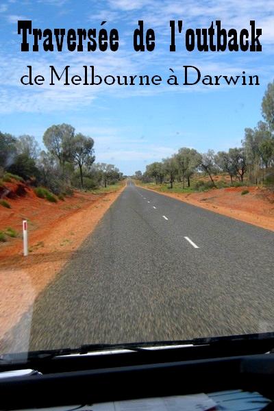 traverser l'outback autralien