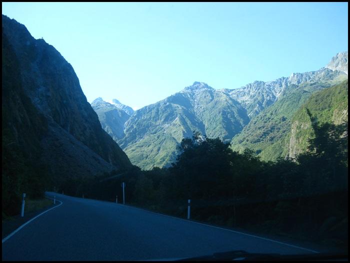 Route vers fox Glacier