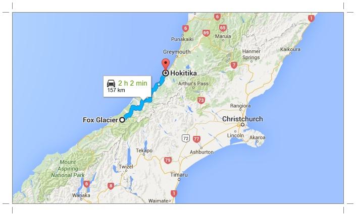 Fox Glacier à Hokitika, Nouvelle-Zélande