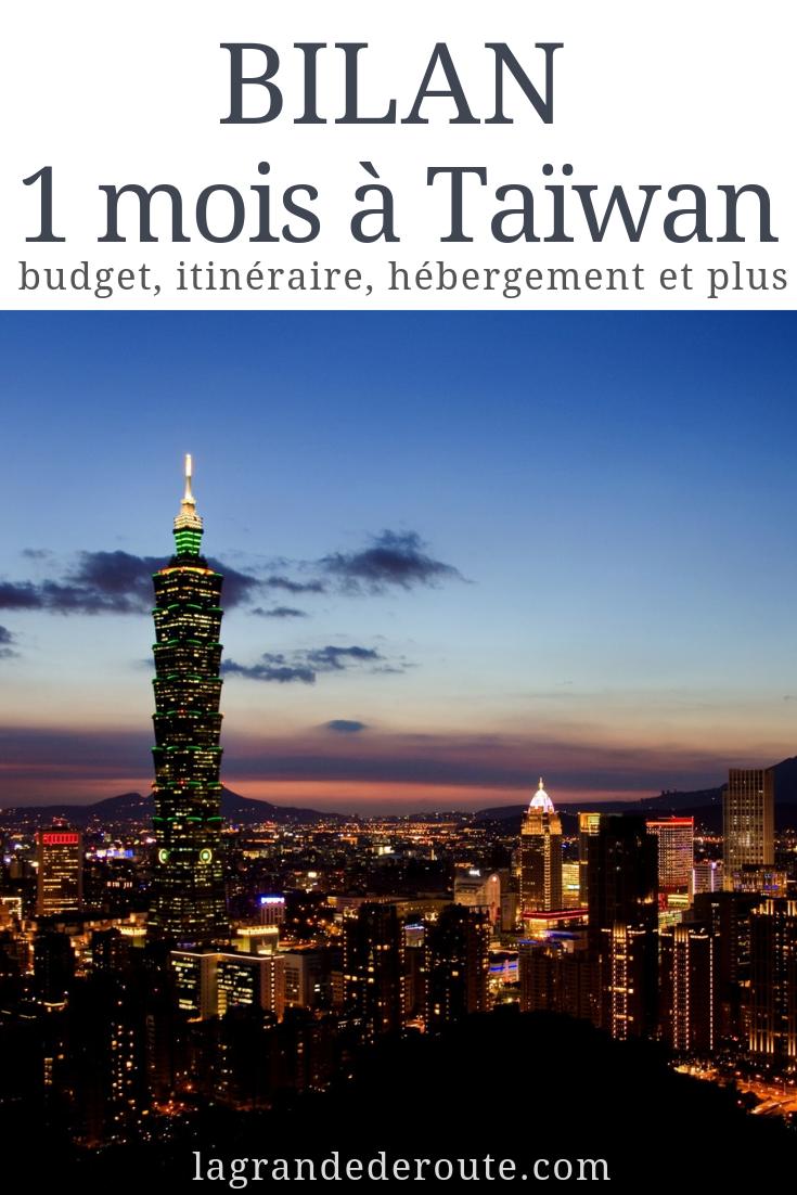 1 mois à Taïwan