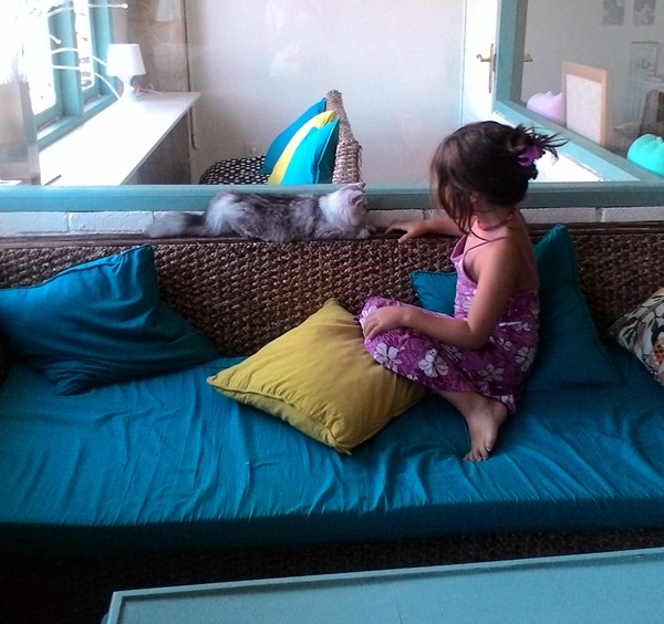 Cat Cafe Ubud avec enfants