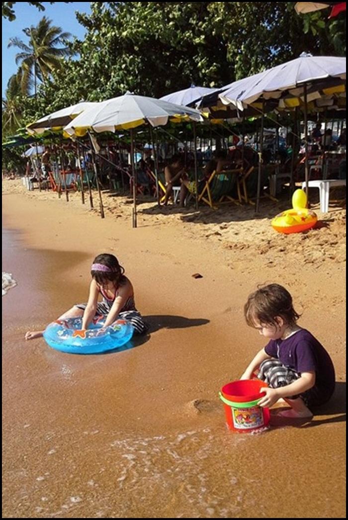 Jomtien Beach avec enfants Thaïlande