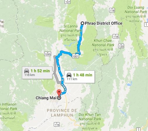 Voyage en Thaïlande, Chiang Mai, Phrao