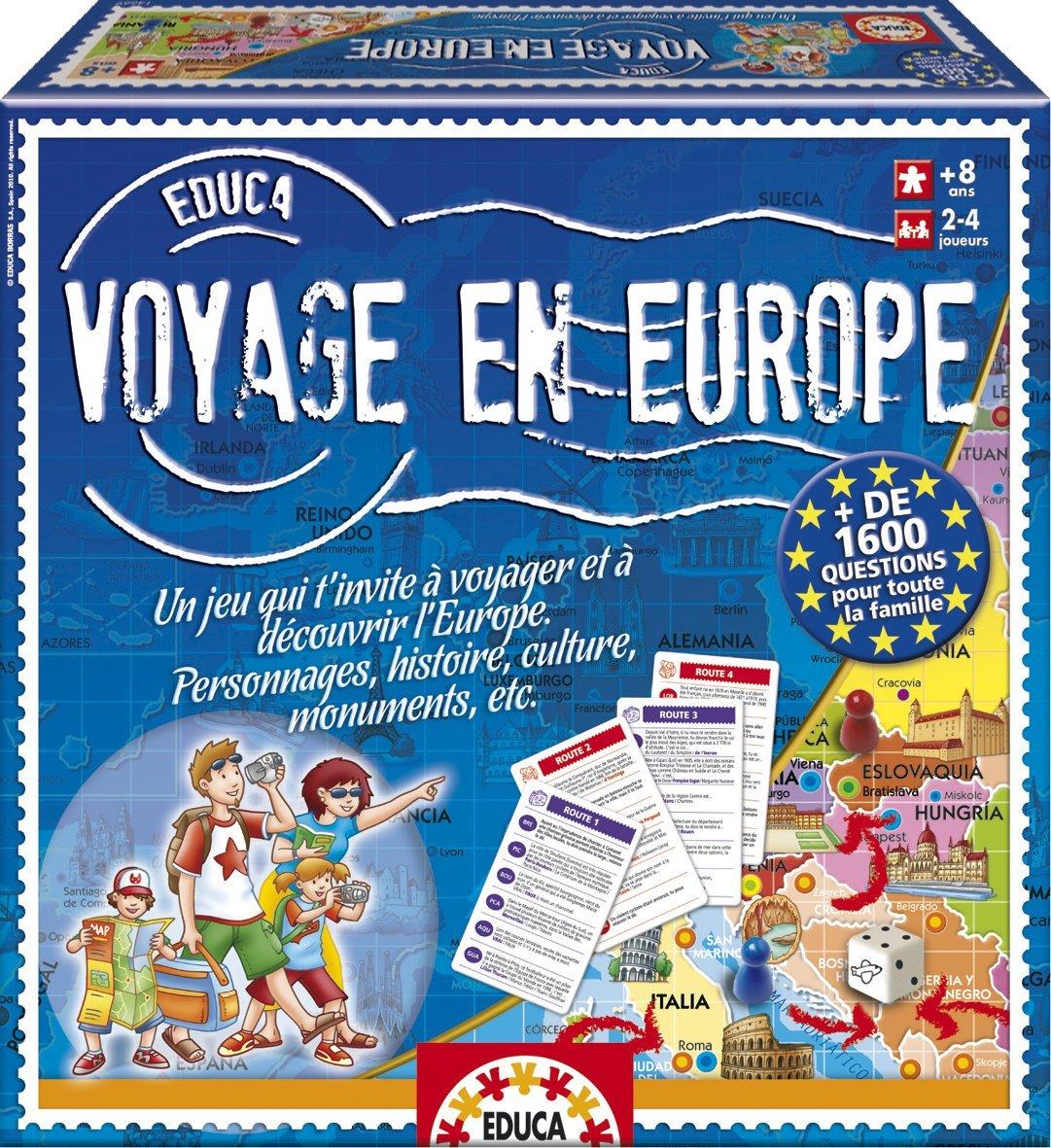 jeu voyage en europe