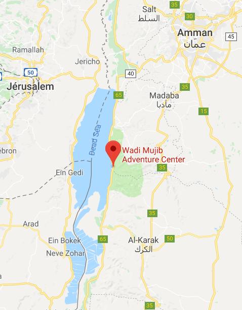 Wadi Mujib carte