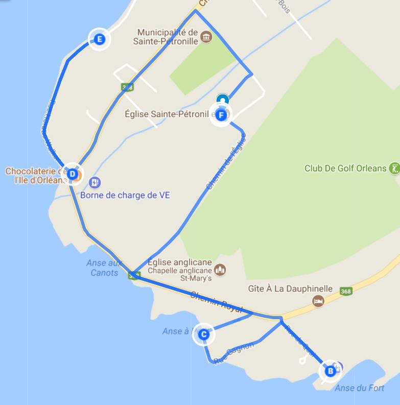 Visiter Sainte-Pétronille à la marche