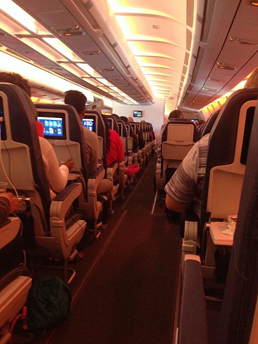 En vol entre Montréal-Paris avec Air Transat