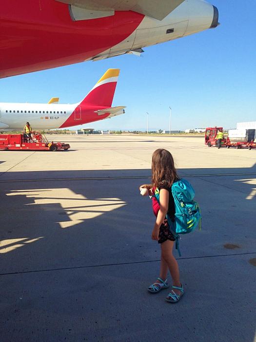 Vol Iberia Hambourg-Madrid, enfants