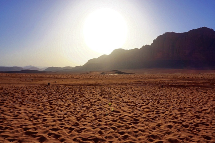 coucher de soleil Wadi Rum Jordanie