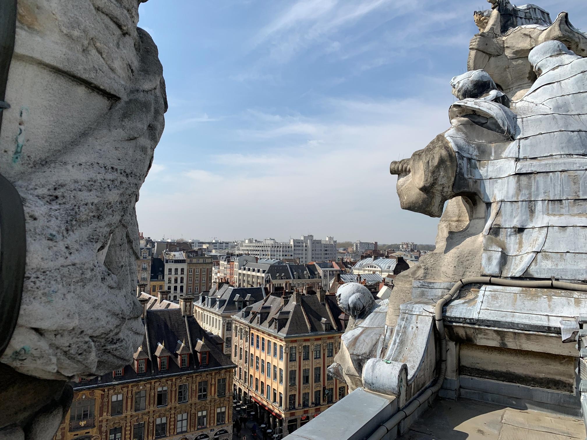 Vue du toit de l'Opéra de Lile