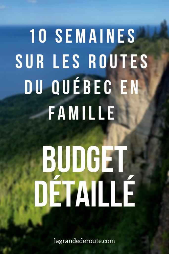 Budget voyage au Québec