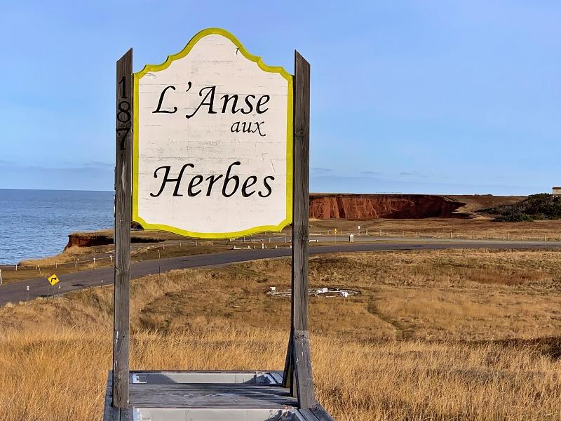 Anse-aux-herbes Îles de la Madeleine novembre