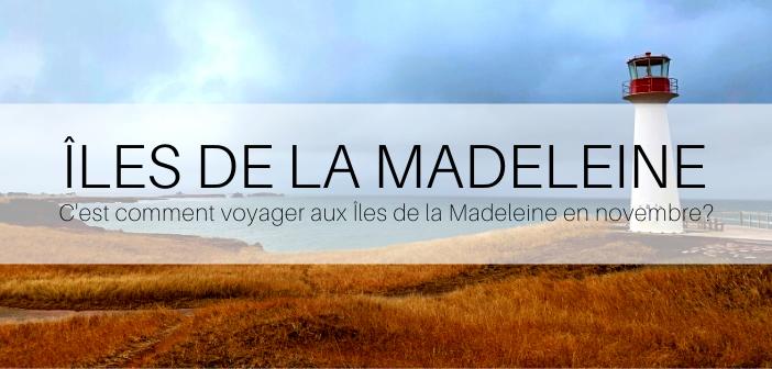Îles de la Madeleine en novembre