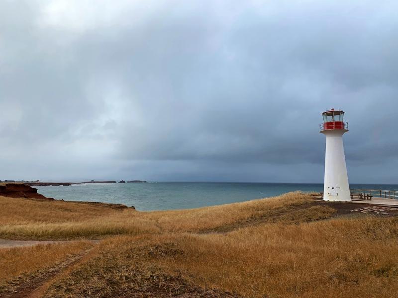 Phare Borgot Îles de la Madeleine novembre