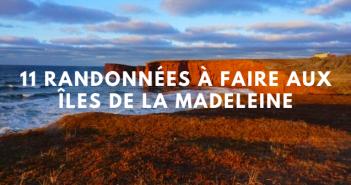 Randonnée Îles de la Madeleine